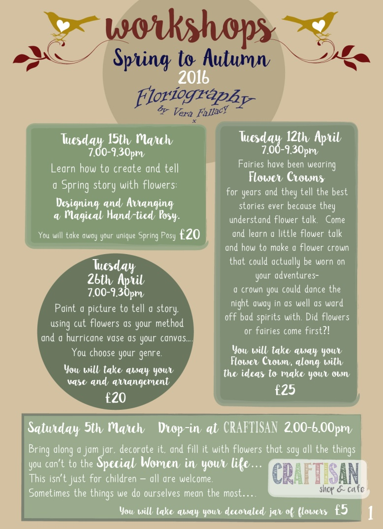 Workshops at Floriography 2016-01