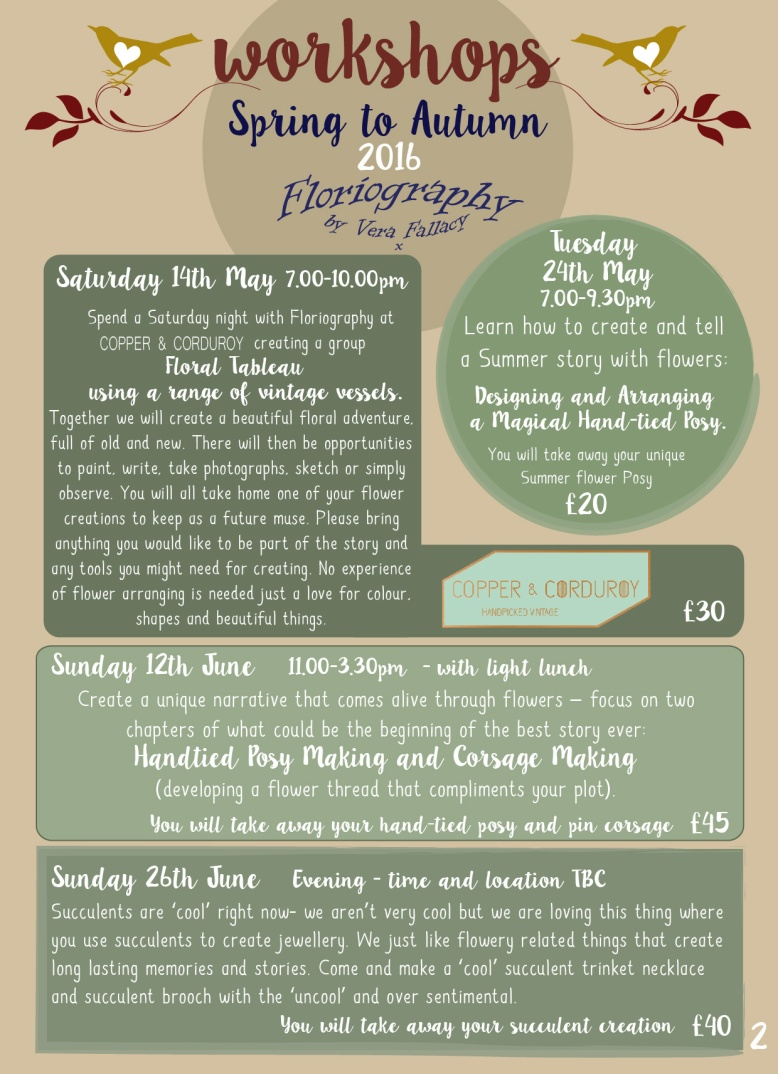 Workshops at Floriography 2016-02
